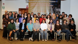 The group for the regional seminar: nearly 30 participants from 15 centres in 13 Latin American countries.