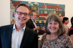 IRCT Head of Communications Scott McAusland with Ms Karen Hanscom, North America representative