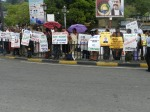 A silent protest organised by HRO Kandy in Sri Lanka