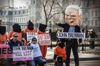 US-based Witness Against Torture protest against the nomination of John Brennan to head the Central Intelligence Agency (CIA). Brennan has outspokenly condoned the use of rendition and torture: http://wp.me/p1FGNE-mm