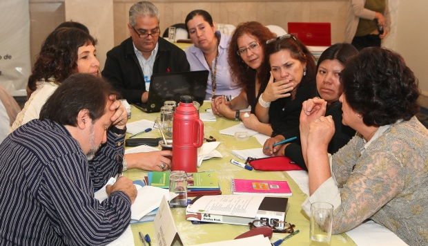 Representatives of torture rehabilitation centres conduct workshops at the Latin America regional meeting held in Quito, Ecuador.