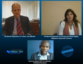 For the first time the two UN Special Rapporteurs met in an online debate to mark International Day for the Eradication of Torture http://wp.me/p1FGNE-rk