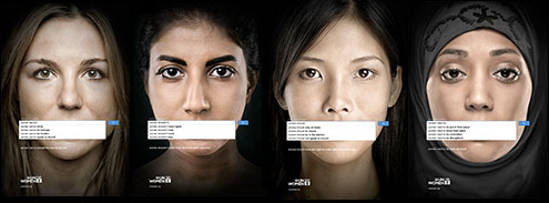 A poster promoting the UN Women ad campaign investigating sexism on Google (image supplied by UN Women)