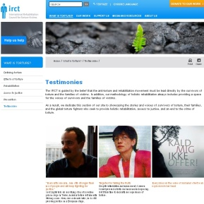The IRCT launched the Testimonial Wall - a place where the stories from survivors of torture are shared: http://wp.me/p1FGNE-sg