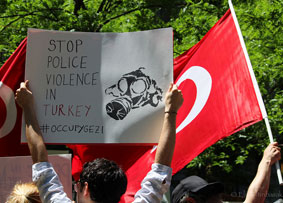 We spoke out against Turkey and their forceful oppression of protests: http://tinyurl.com/omxp5fp