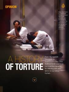 A screenshot of the iPad magazine from Al Jazeera