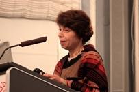 Dr Lilla Hardi gives her acceptance speech after winning the Inge Genefke Award 2014