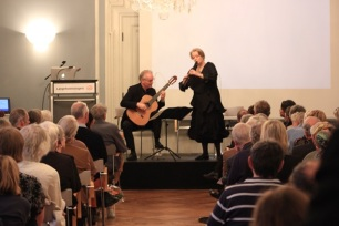 Musicians Michala Petri and Hannibal (guitar) conclude the evening.