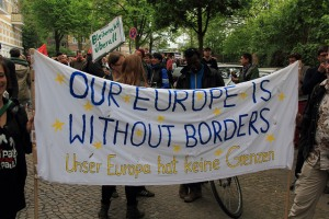 Also in Germany, in Hamburg, protestors call for greater rights for refugees (courtesy of Refugee Welcome Centre, used under creative commons licence)