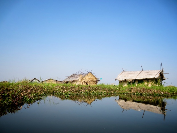 Phumsangs, THE traditional floating huts made of bamboo and thatch situated in the middle of lake