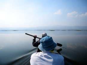 THE small dugout canoe that would take us to the centre of Loktak Lake in the mountainous Manipur State