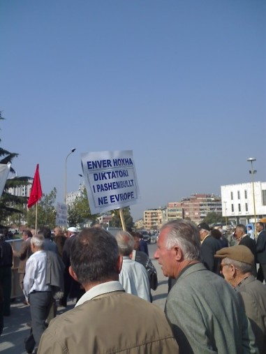 ARCT in Albania hold a protest against the use of torture