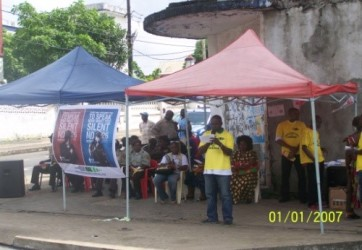 Rescue Alternatives Liberia (RAL) held a one-day outdoor event on the streets of Monrovia to raise awareness on the theme of torture.