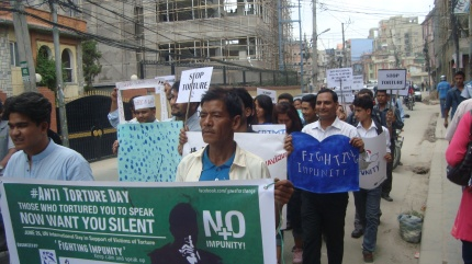 PPR in Nepal marked the day with a street protest