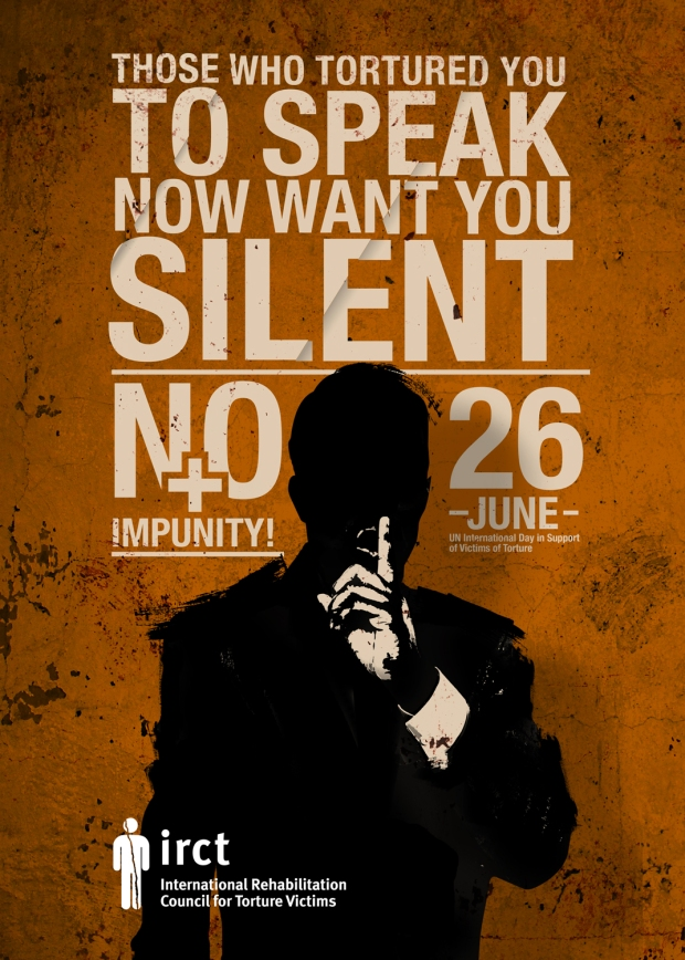 'No Impunity' poster by IRCT
