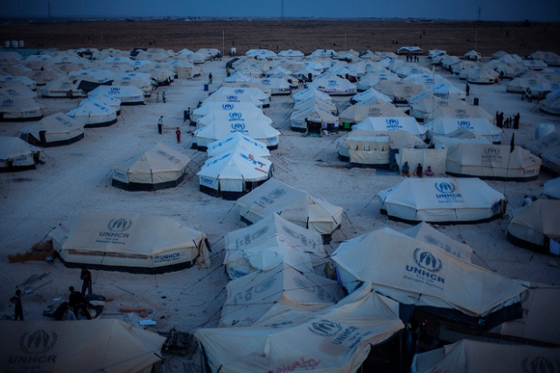 The Za'atari refugee camp, Jordan. (Courtesy of UNHCR/Brian Sokol, via Flickr Creative Commons)