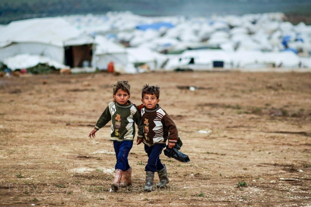Syrian refugees. (Courtesy of Freedom House used via Flickr creative commons license)