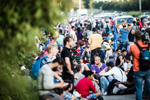 Refugees in Hungary (Courtesy of International Federation of Red Cross and Red Crescent Societies used via Flickr creative commons license)