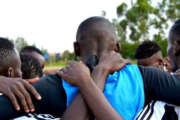 Youth in a show of unity to Support Life after Torture during the event to mark 26 June at Kahawa Sukari grounds